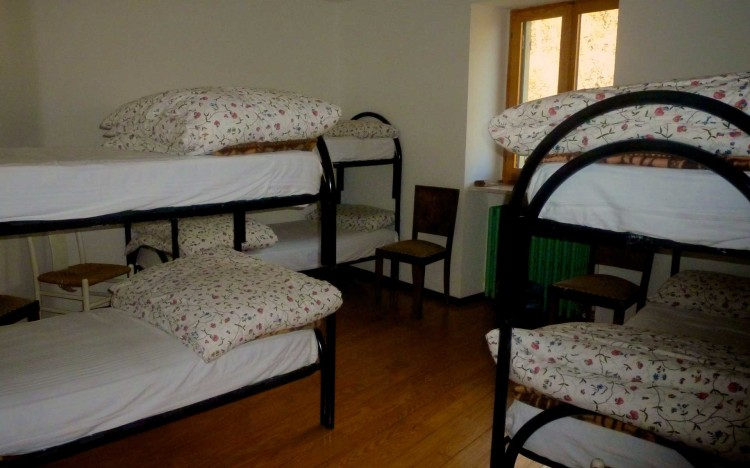 Un'altra delle camere a disposizione degli escursionisti o degli ospiti del rifugio